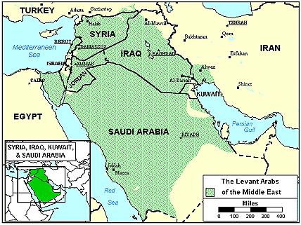 Карта Арабы, иракцы в Австралии