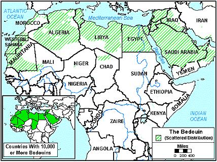 Карта БЕДУИНЫ, Берабиш в Мали
