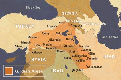 Карта КУРДЫ в Турции