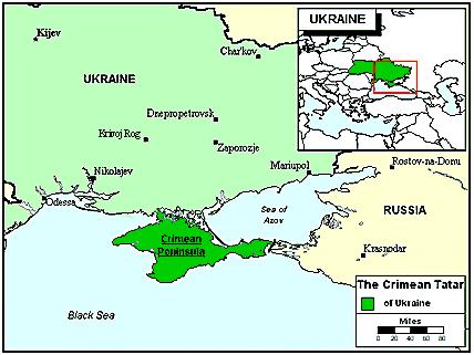 Карта Крымские татары в России