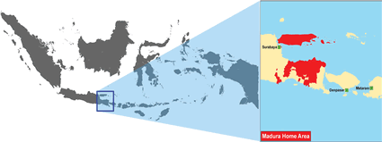 Карта Мадуры в Индонезии