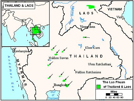 Карта ЛАО ФУАН в Лаосе