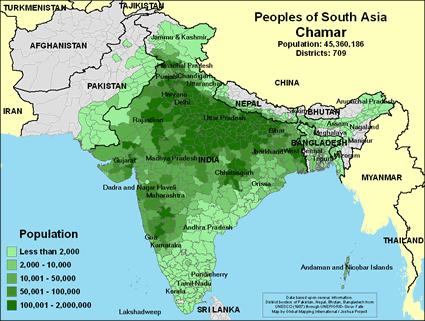 Карта Хамары в Индии
